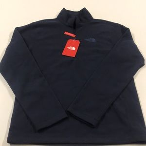 The North Face Shirts - 🆕 NORTH FACE Men's Small Blue 1/4 zip Fleece